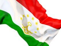 Waving flag of tajikistan Royalty Free Stock Photos