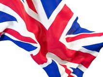 Waving flag of united kingdom Royalty Free Stock Photos