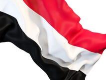 Waving flag of yemen Royalty Free Stock Photos