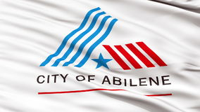 Closeup Waving National Flag of Abilene City, Texas stock video