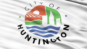 Closeup Waving National Flag of Huntington City, West Virginia stock video