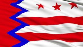 Closeup Waving National Flag of Washington Town, Maine stock footage