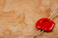 Closeup wax seal Royalty Free Stock Photography