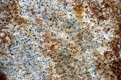 Closeup of Weathered Grey and Brown Textured Granite Royalty Free Stock Photo