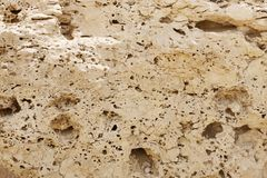 Closeup of Weathered limestone rock Royalty Free Stock Photos