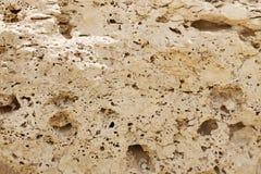Closeup of Weathered limestone rock Royalty Free Stock Photos