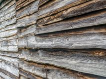 Old wooden barn siding Royalty Free Stock Images