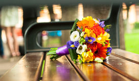 Closeup of a wedding bouquet Royalty Free Stock Photography