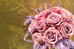 Wedding bouquet made by roses Stock Photos