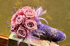 Closeup wedding bouquet Stock Images