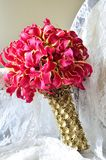 Wedding bouquet on the armchair Royalty Free Stock Images