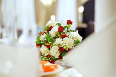 Bouquet at Restaurant Royalty Free Stock Images