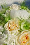 Closeup of wedding bouquet. Wedding bouquet with white roses Royalty Free Stock Photos