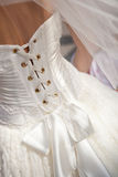 Closeup of wedding dress Stock Photo