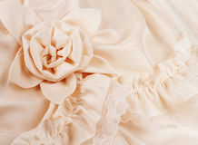 Closeup of Wedding Dress with Space for Your Words Royalty Free Stock Image