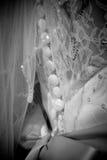 Closeup of a wedding dress Royalty Free Stock Photography