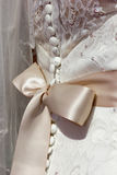 Closeup of a wedding dress Royalty Free Stock Photography