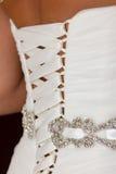 Closeup of a wedding dress Stock Image