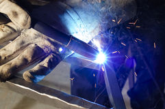 Closeup of welder Royalty Free Stock Image