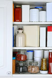 Closeup of a Well Stocked Pantry Stock Photos