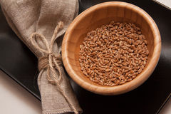 Closeup of wheat in bowl Stock Image