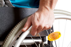 Closeup of a wheelchair Stock Image