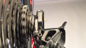 Close up of gear wheels stock video footage