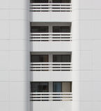 Closeup white balcony modern building Royalty Free Stock Image