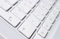 Closeup of white keyboard Royalty Free Stock Photography
