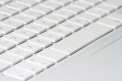 Closeup of white keyboard Stock Image