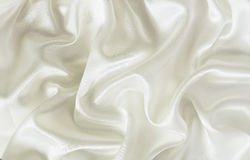 Closeup of white silk fabric. For background royalty free stock images