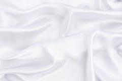 Closeup of white smoot fabric Stock Image