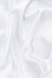 Closeup of white smoot fabric Stock Image