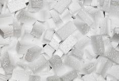 Closeup white styrofoam pellets Royalty Free Stock Photos