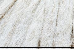 Closeup of white thread textured background Stock Photo