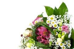 Closeup of white wedding bouquet. On white background Stock Photo