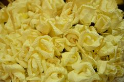 Closeup white and yellow Sandalwood flowers for a funeral ceremo. Closeup white and yellow Sandalwood flowers for a funeral Thailand local ceremony stock photo
