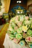 Closeup white and yellow Sandalwood flowers for a funeral ceremo. Closeup white and yellow Sandalwood flowers for a funeral Thailand local ceremony stock image
