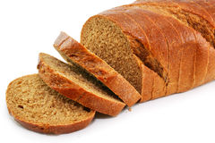 Closeup of whole wheat bread isolated. On a white background Stock Image
