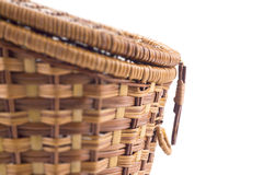 Closeup of wicker basket Royalty Free Stock Image