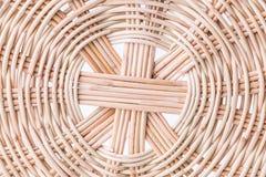 Closeup wicker basket Stock Images