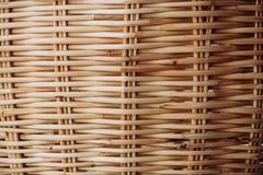 Closeup wicker basket Stock Photo