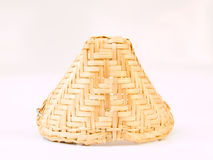A Wicker basket key chain  on white background . Royalty Free Stock Photography