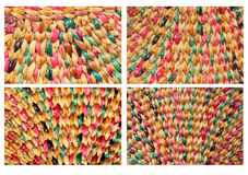 Closeup of a wicker texture Royalty Free Stock Photos