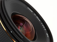 Closeup wide-angle lens for DSLR camera Royalty Free Stock Photo