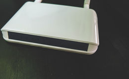 Closeup of Wifi router antenna. IT concepts, Wifi router antenna Stock Photography