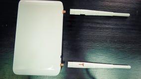 Closeup of Wifi router antenna. IT concepts, Wifi router antenna Royalty Free Stock Photos