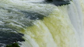 Closeup of a wild and strong waterfall stock video footage
