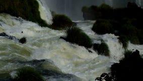 Closeup of a wild and strong waterfall. Closeup of a wild and a strong waterfall stock video