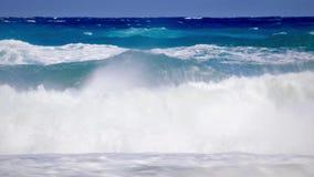 Closeup wild waves stock video footage